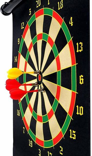 Gulshan Traders High Recommended 18 Inch Double Sided Fold-able Magnet Dart Board Convertible Tip Dart