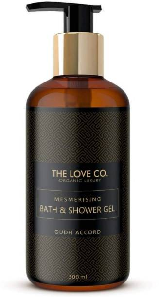 The Love Co. Mesmerising Oudh Accord Foaming Body Wash No Parabens Silicones and Color 100% Vegan Cleansing and Moisturising Bath Gel For Men and Women