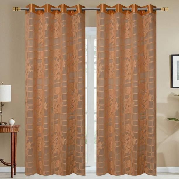 kiara Creations 153 cm (5 ft) Net Window Curtain (Pack Of 2)