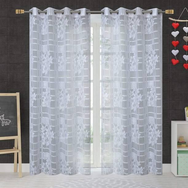 Blexos 152 cm (5 ft) Tissue Window Curtain (Pack Of 2)