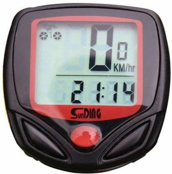 Sunding 1 Function Waterproof Bicycle Computer Odometer Speedometer Wired Cyclocomputer Wired Cyclocomputer