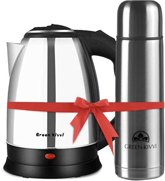 green kivvi MO-18-SS-WITH-FLASK Electric Kettle