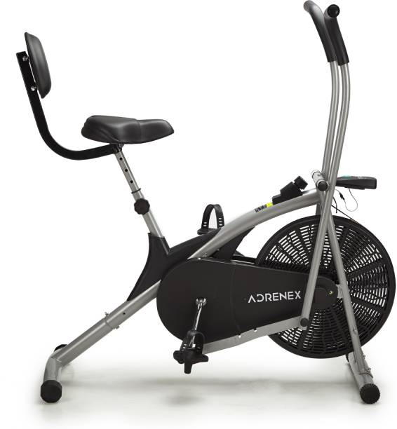 Adrenex by Flipkart AIRBIKE100BS Exercise Bicycle with Moving Handles and Back Support Dual-Action Stationary Exercise Bike