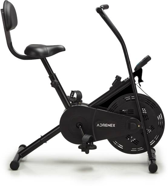 Adrenex by Flipkart AIRBIKE90BS Exercise Bicycle with Fixed Handles and Back Support Upright Stationary Exercise Bike