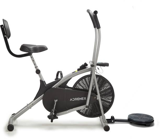 Adrenex by Flipkart AIRBIKE100BST Exercise Bicycle with Moving Handles, Back Support and Twister Dual-Action Stationary Exercise Bike
