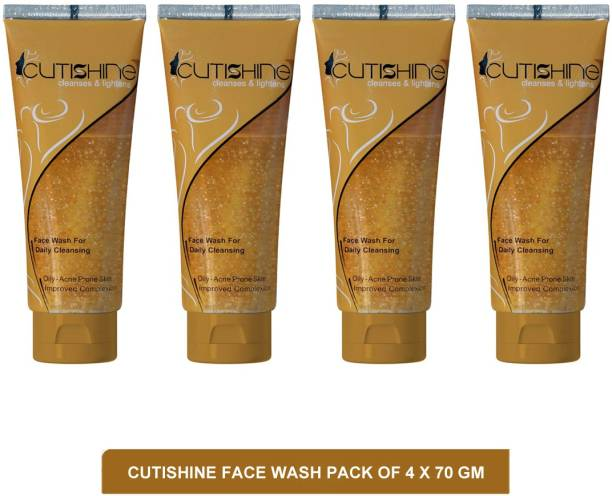Cutishine face wash - face wash for oily acne prone skin(pack of 4)70g Face Wash