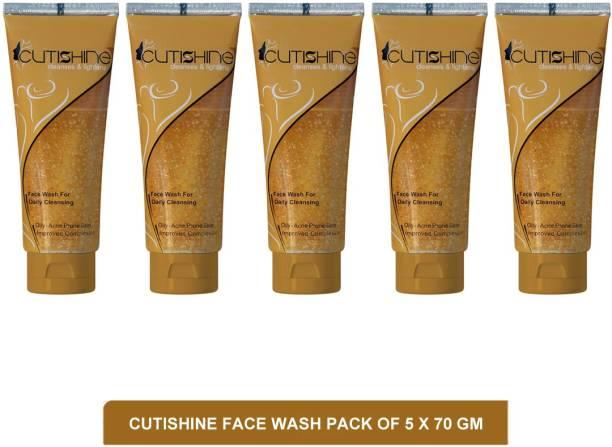 Cutishine face wash - skin lightening face wash(pack of 5)70g Face Wash