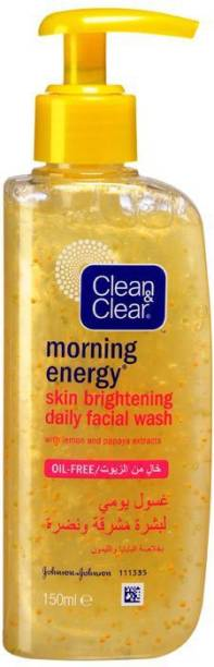 Clean & Clear Morning Energy Skin Brightening Daily Facial Wash Face Wash