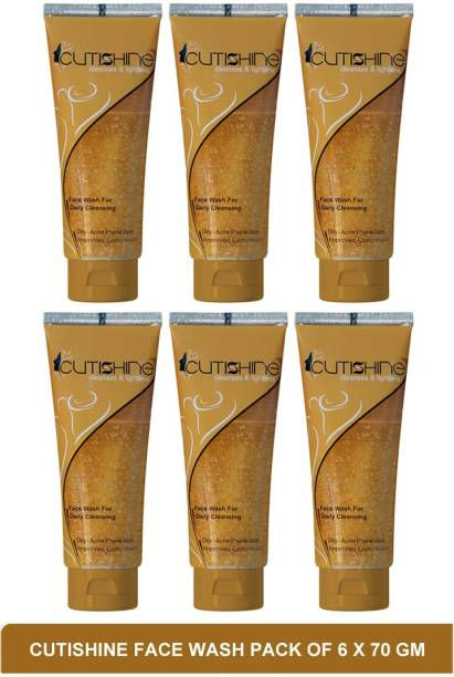 Cutishine face wash - pimple clear face wash(pack of 6)70g Face Wash