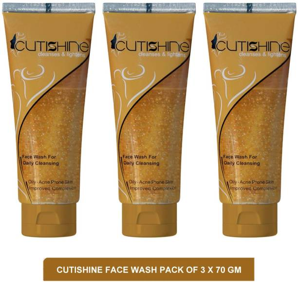 Cutishine face wash - best face wash to remove pimples(pack of 3)70g Face Wash