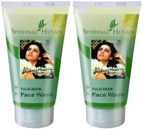 Shahnaz Husain Tulsi Neem - 300ml ( pack of 2 *150gl) Face Wash