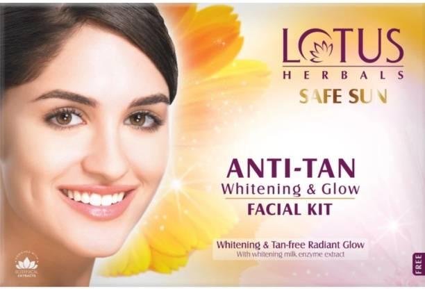 LOTUS HERBALS Safe Sun Anti-Tan Whitening & Glow Facial Kit 40g