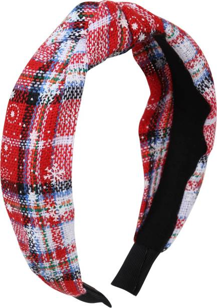 Arendelle Christmas Red White Plaid Hairband for Women Girls [AHA189] Hair Band