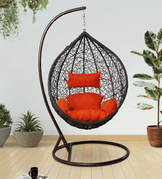 SPYDER HOME DECORE Swing chair with stand Iron, Plastic Large Swing