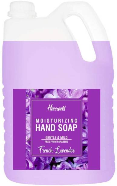 HARRODS Hand Wash Aromatic and Nourishing Infused With Natural Essential Oils French Lavender Shea Butter and Vitamin E Germ Fighting and Moisturizing Hand Wash Can