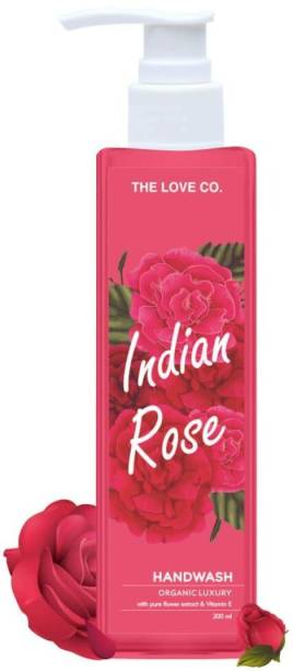 The Love Co. Hydrating Indian Rose and Neem Extracts Natural Hand Wash For Clean and Moisturize Hand Hand Wash Pump Dispenser