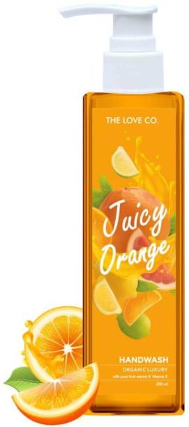 The Love Co. Juicy Orange Anti Bacterial Natural Hand Wash With Tulsi Neem Extracts Hand Wash Pump Dispenser