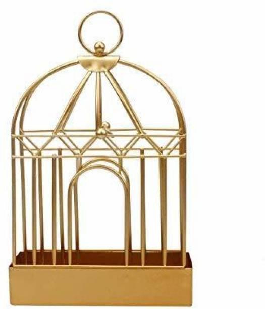 Home Delivered incenses\coil holder retro bird cage design Brass Incense Holder