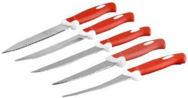 galleyway Women's 1st Choice Premium Knife 5 (Red) Plastic, Stainless Steel Knife Set