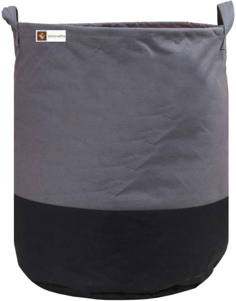 Unicrafts 45 L Grey, Black Laundry Bag