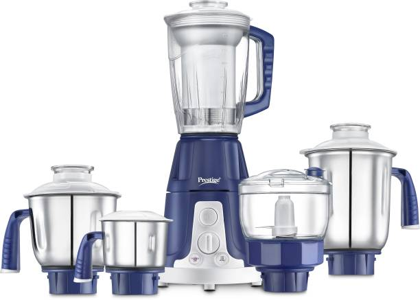 Prestige Atlas Deluxe 750 Juicer Mixer Grinder (5 Jars, Blue, Silver)