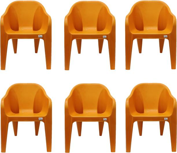 RW REST WELL olid Structure Chair Plastic Chair Plastic Outdoor Chair