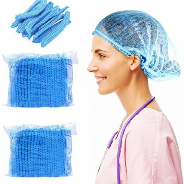 DM SPECIALLY FOR SPECIALIST - Quality Disposable Bouffant Caps for Hospital, Restaurants & Home Use, Blue Color Surgical Head Cap