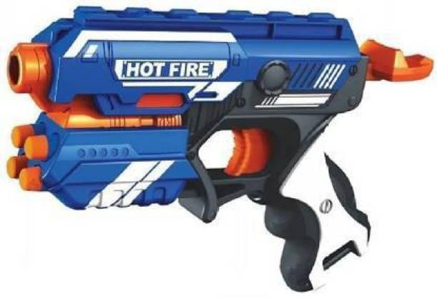 Sandiksha Blaze Storm Manual Soft Bullet Shooting Gun Toy with 10 Safe Foam Bullet for Kids ( Multicolor ) Guns & Darts Guns & Darts