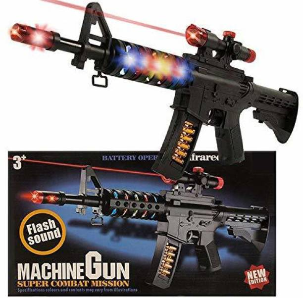 HALO NATION AK 47 Light and Sound Musical PUBG Machine Gun Toy with Vibration and Laser Projection AK47 M4 Toy Gun for Boys Guns & Darts