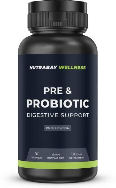 Nutrabay Wellness Pre & Probiotic Digestive Support - 25 Billion CFUs