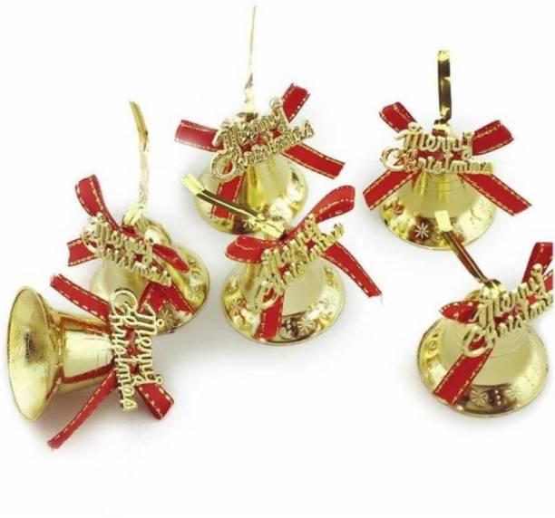 Mancloem Christmas Tree Decoration Pack of 6 Bells Ornamental Bells Pack of 6