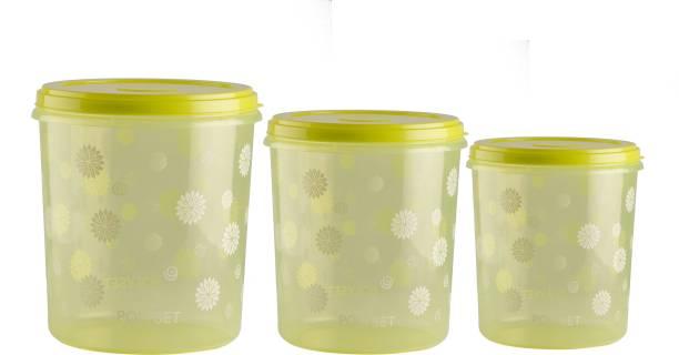 POLYSET Polyset Star Container- 3 Pcs. Set, Green (1L, 2L, 4L)  - 7 L Plastic Utility Container
