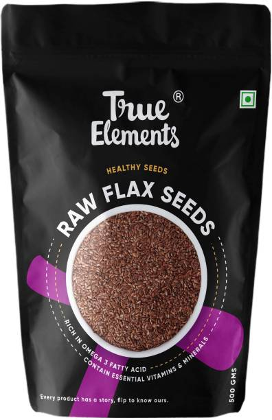 True Elements Raw Flax Seeds, Rich in Omega 3 Fatty Acid, Healthy Seeds