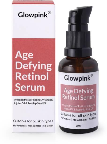 Glowpink Age Defying Retinol Serum with Vitamin E, Jojoba Oil & Rosehip Seed Oil