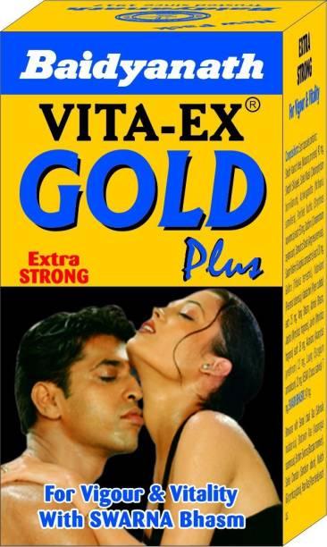 Baidyanath Vita Ex gold Plus - Made with Pure Shilajit and Fortified with Swarna Bhasma