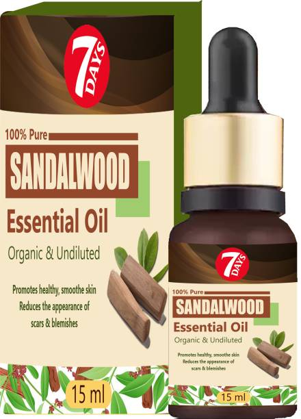 7 Days Sandalwood Essential Oil 100% Organic Pure Undiluted Therapeutic Grade Scented Oils - for Diffuser, Relaxation, Skin Therapy & More