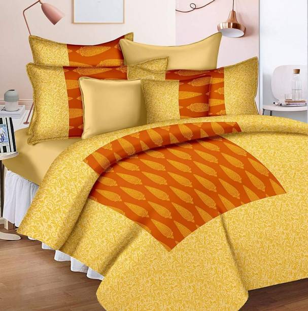 Paarun Home Décor 260 TC Cotton Double King Printed Bedsheet