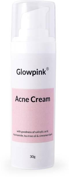 Glowpink Acne Cream with Salicylic Acid, Niacinamide, Tea Tree Oil & Cinnamon Bark