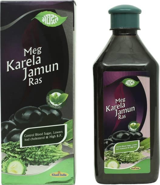 MEGHDOOT Meg Karela Jamun Ras for Blood Sugar, Bad Cholesterol and High Blood Pressure