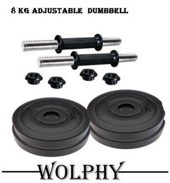 WOLPHY 8 KG DUMBBELL SET Adjustable Dumbbell