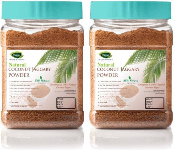 Thanjai iyerkai Coconut Sugar|Coconut Jaggery Powder 1000g Jar 100% Pure Natural Unrefined Traditional Method Made Sugar