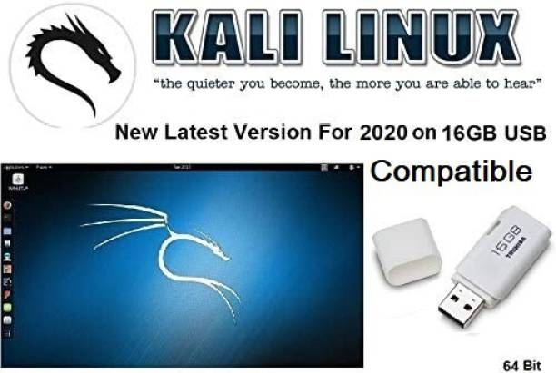 Compatible Kali Linux Full Latest Version 2020 16GB USB 64bit This versions can be used in Live mode without making any changes to your computer or any other computer but will also enable you to install the operating system, either alongside your existing OS or as a full replacement for it. 64bit
