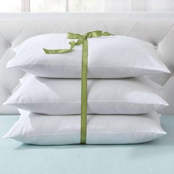 Prima Facie PILLOW Cotton Solid Sleeping Pillow Pack of 3