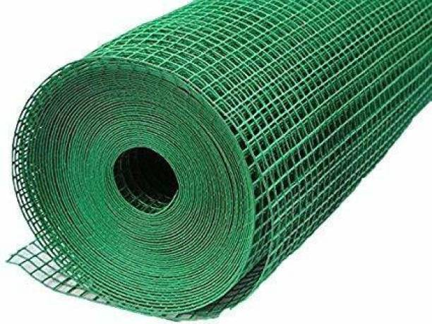 RED WIND PVC coted IRON 12MM HDPE Tree Fencing Net/Bird Net (3feet Height/10feet Length) UV Stabilized Heavy 800GSM GREEN COLOR with free 1 Cutter,50PVC Tags MODEL NO:2 Portable Green House