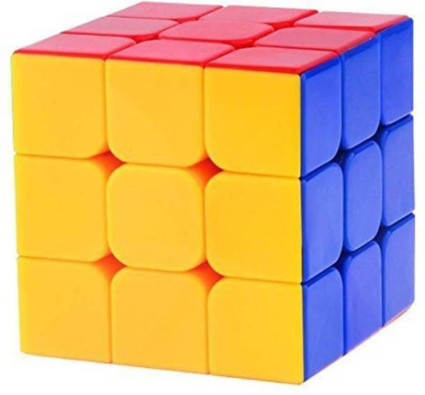 TamBoora 3X3X3 SPEED CUBE HIGH STAYBILITY STICKER LESS SMOOTH SWING FOR FASTER MOVEMENT (1 Pieces)