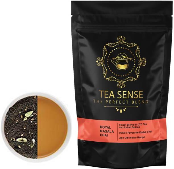 Tea Sense MasalaTea500 Black Pepper, Ginger, Cinnamon, Cloves, Cardamom, Spices Masala Tea Pouch