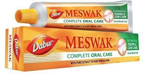 Dabur MESWAK TOOTHPASTE FOR TOOTH AND GUM CARE WITH PURE EXTRACT OF RARE MISWAK HERB (200G) Toothpaste