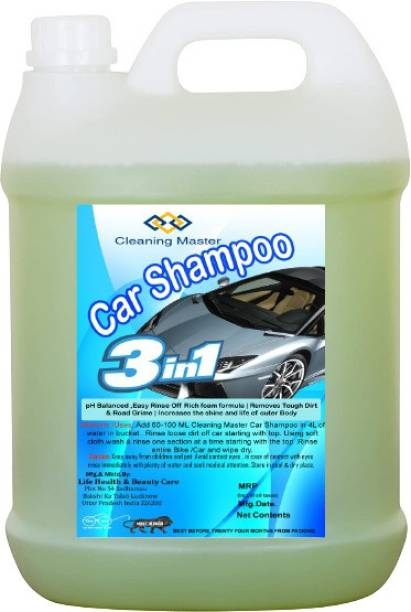 Cleaning Master Car Shampoo (5L) pH Neutral Formula For Safe, Spot Free Cleaning - Honey Thick, Luxurious Suds That Always Rinses Clean - Ultra Slick Formula That Wont Scratch or Leave Water Spots. Car Washing Liquid