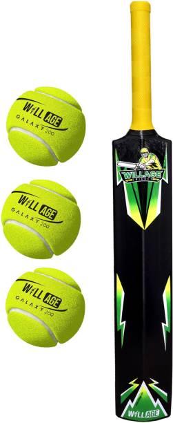 WILLAGE Plastic Bat Ball , Plastic Bat Size 6 , Plastic Bat For Tennis Ball PVC/Plastic Cricket  Bat