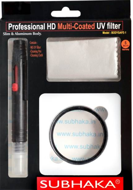SUBHAKA 55mm Imported Multi-Coated UV Filter With Cleaning Pen & Cleaning Cloth UV Filter